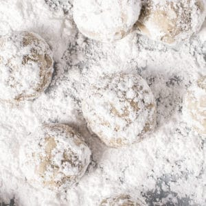 cookies in powdered sugar