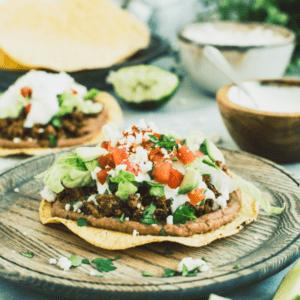 Mexican Tostadas Pinterest Image