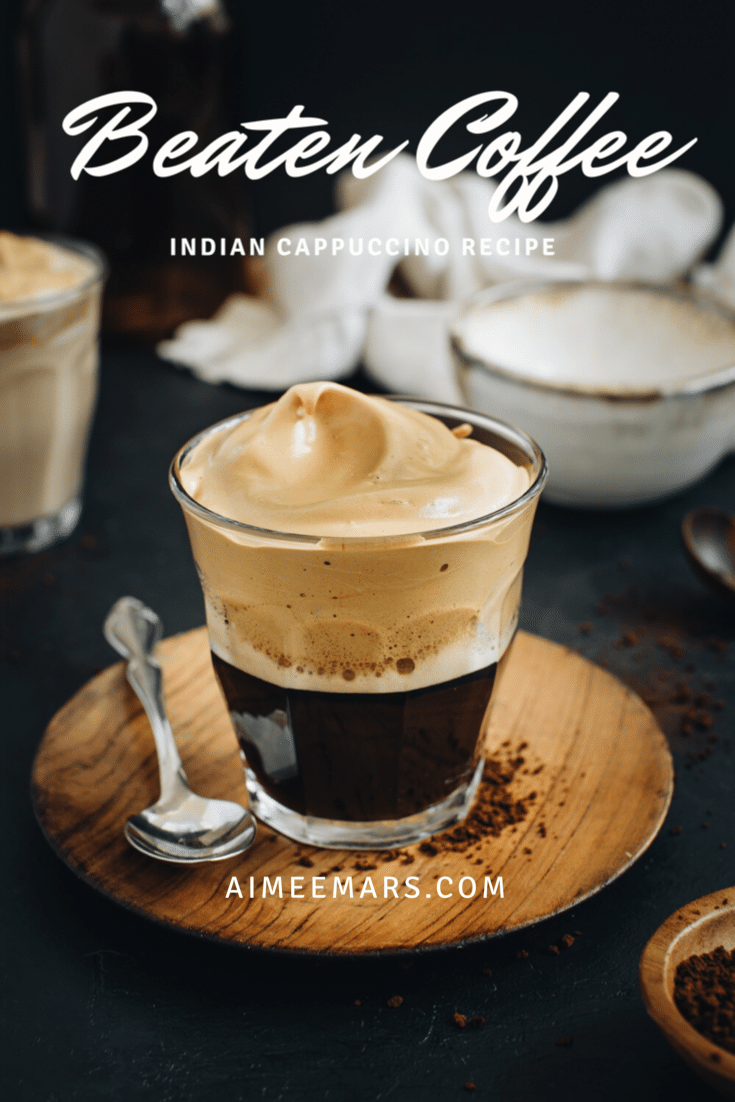 How to make Indian style coffee Pinterest image.