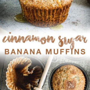 banana muffins pin with brown title