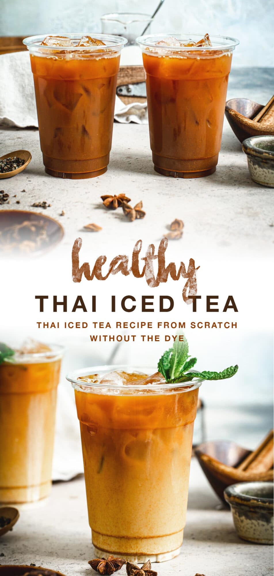Thai tea double image with brown title