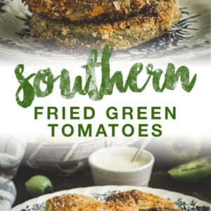 fried green tomatoes double image with green title