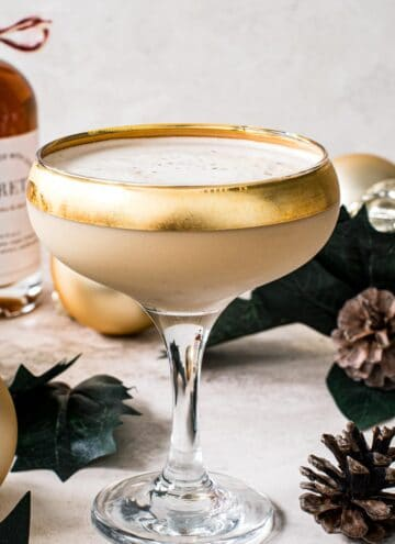 Toasted Almond Drink in a martini glass.