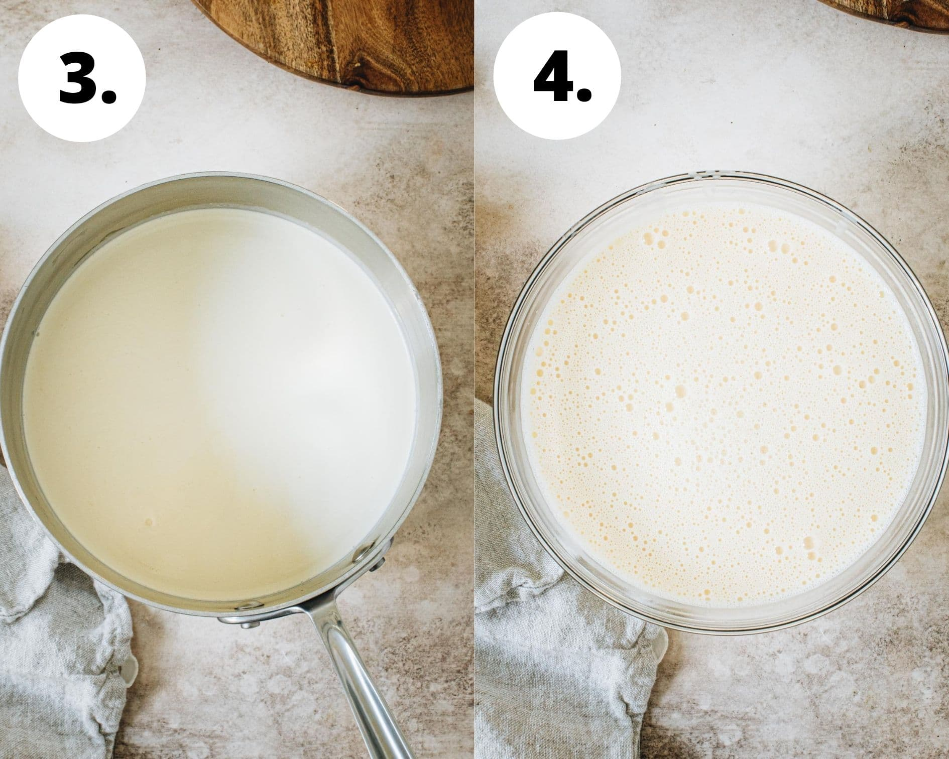 S'mores pie process steps 3 and 4.
