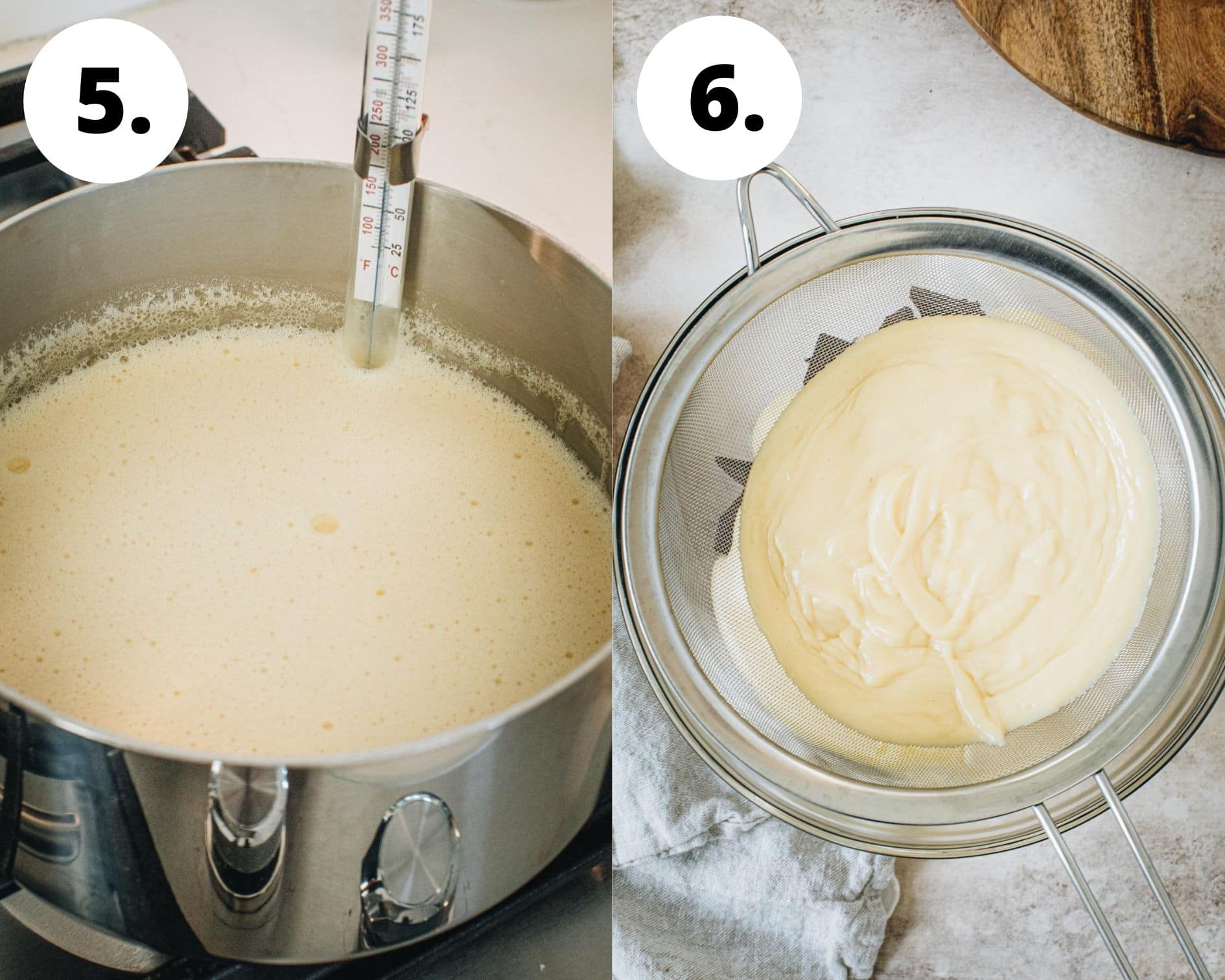 S'mores pie process steps 5 and 6.