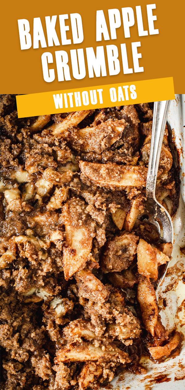 Baked Apple Crumble without Oats Pin