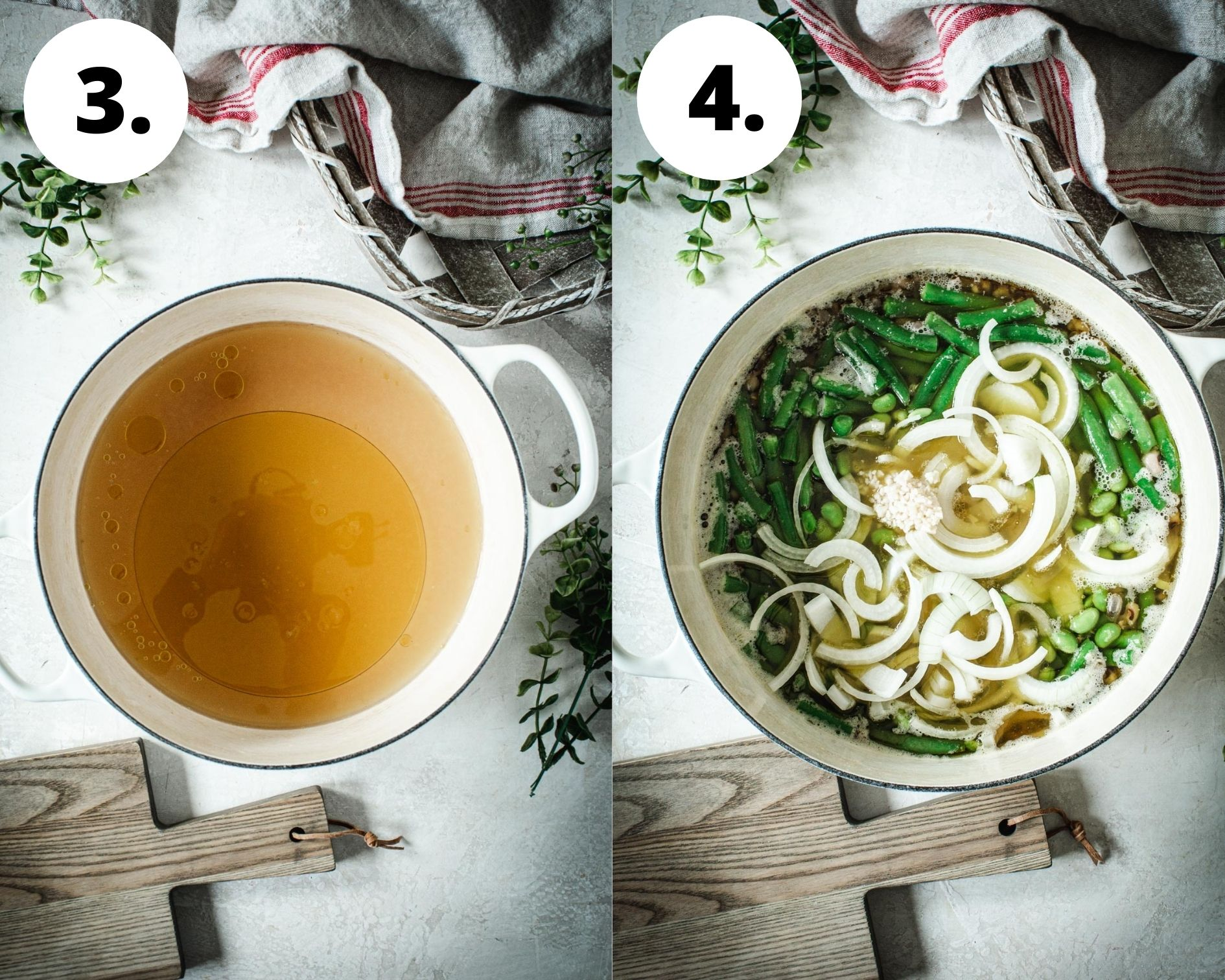 Three bean salad process steps 3 and 4.