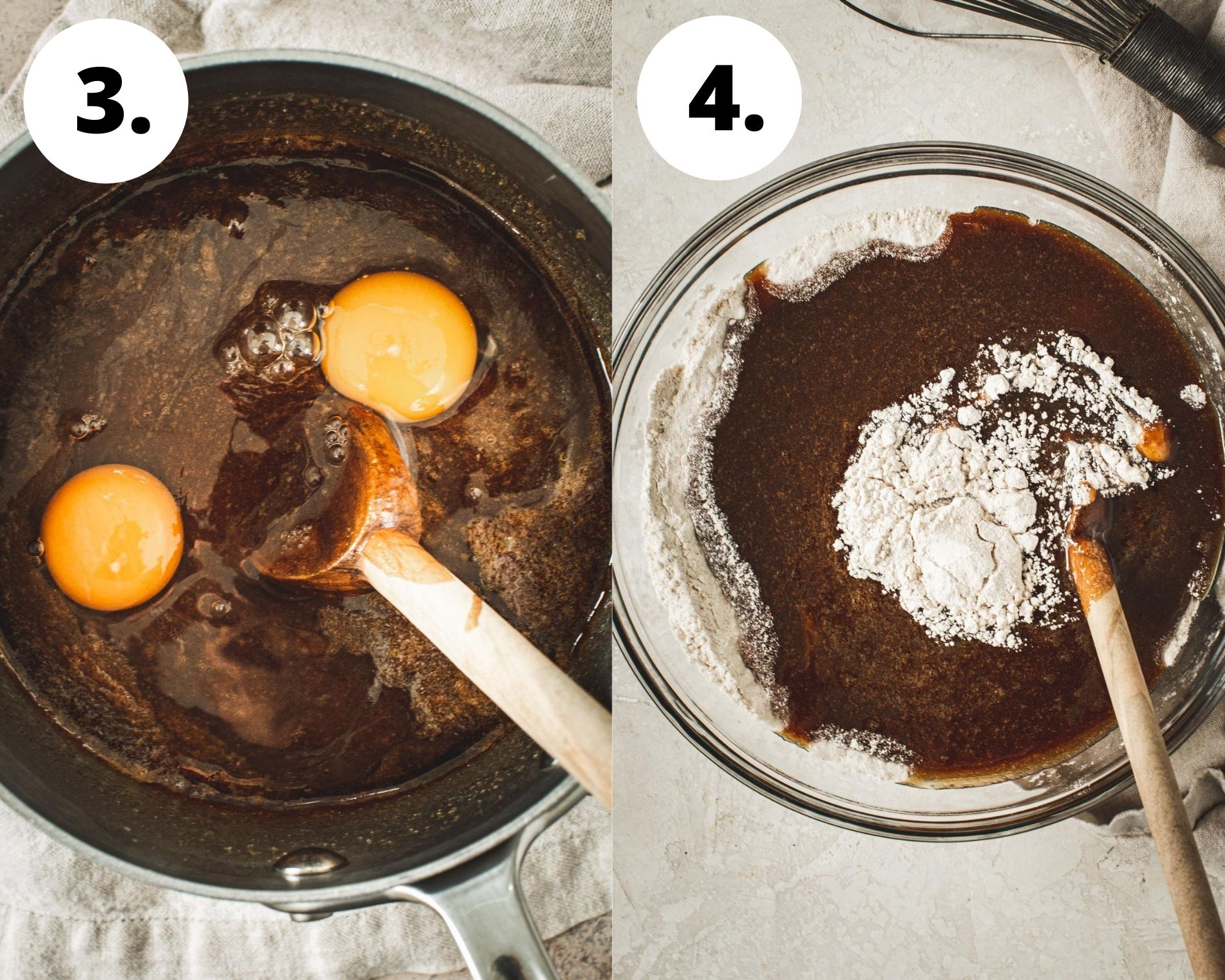 Cinnamon squares process steps 3 and 4.