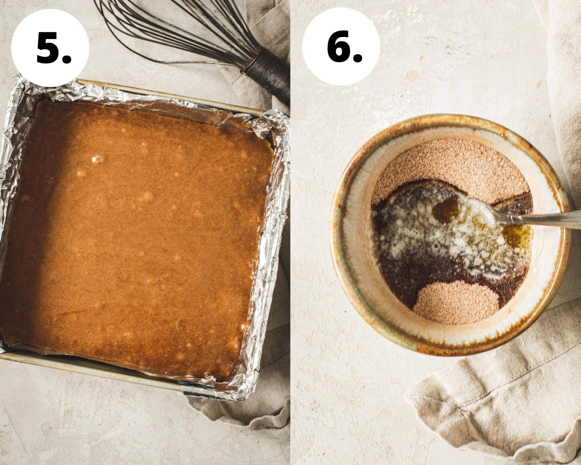 Cinnamon squares process steps 5 and 6.