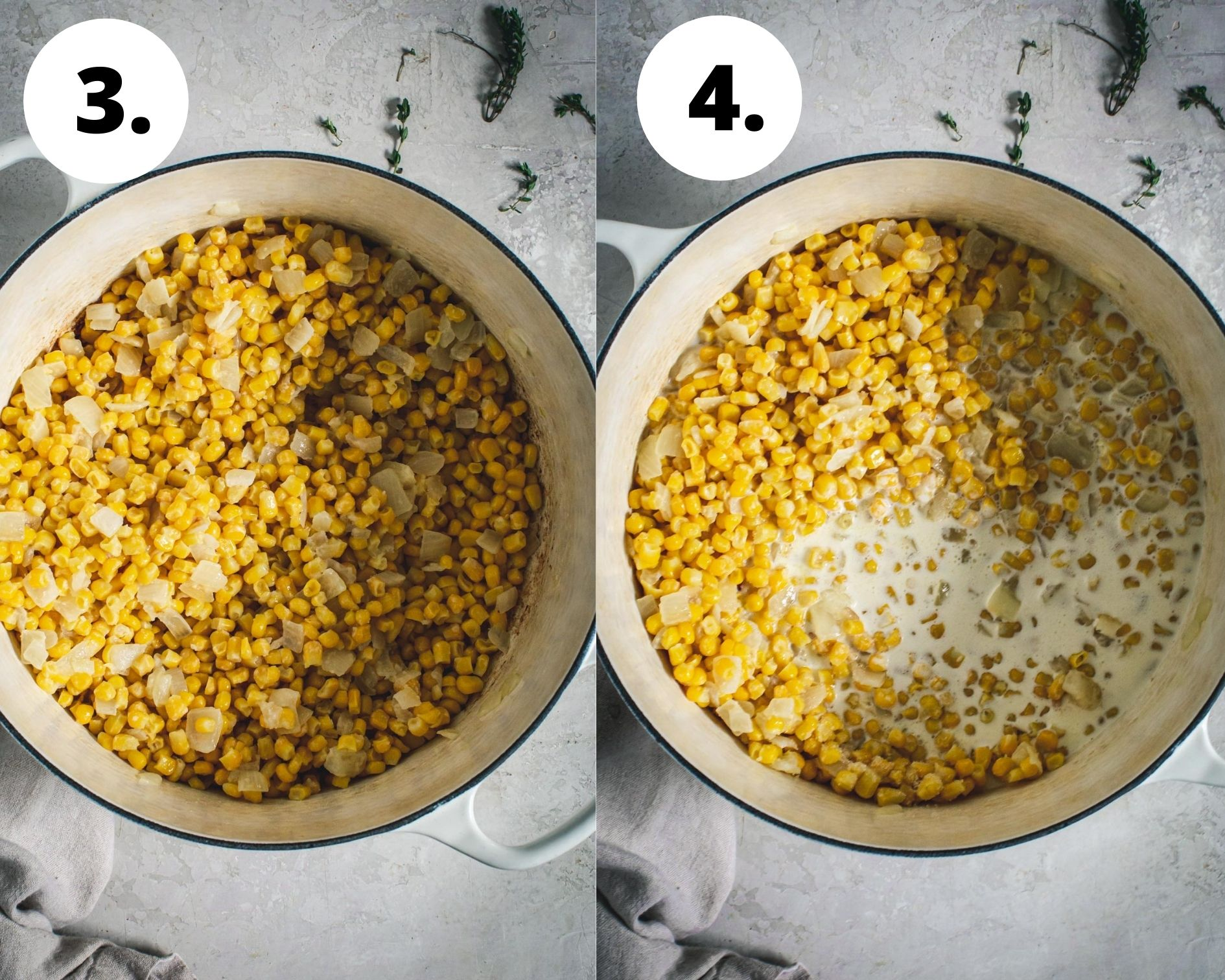 Best creamed corn process steps 3 and 4.