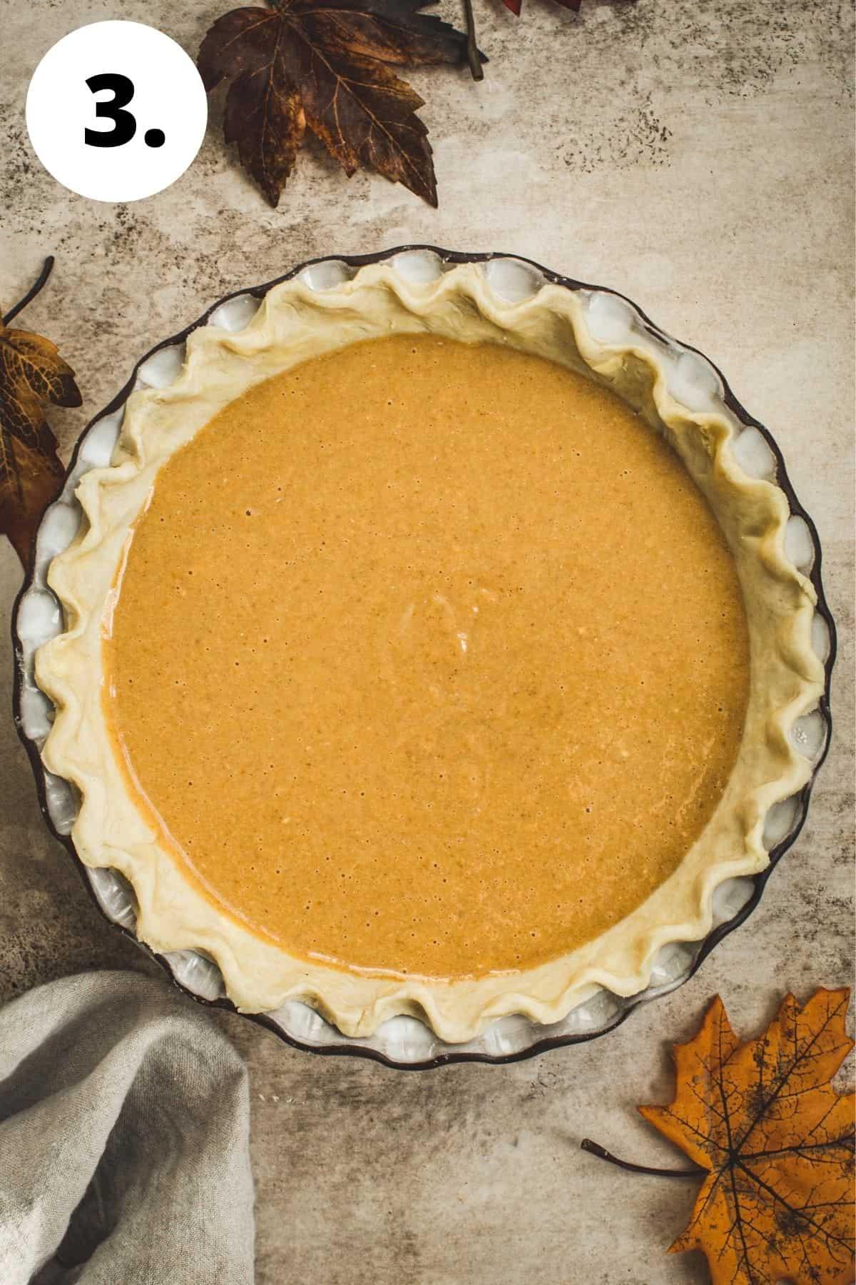 Maple pumpkin pie process step 3.